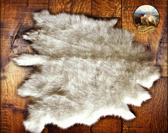 Buffalo Rug Deer Skin Bear Hide Faux Fur Accent Pelt Rug / Shaggy Sheepskin / Carpet / New Sizes and Colors