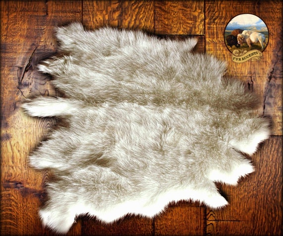 Buffalo Rug Deer Skin Bear Hide Faux Fur Accent Pelt By