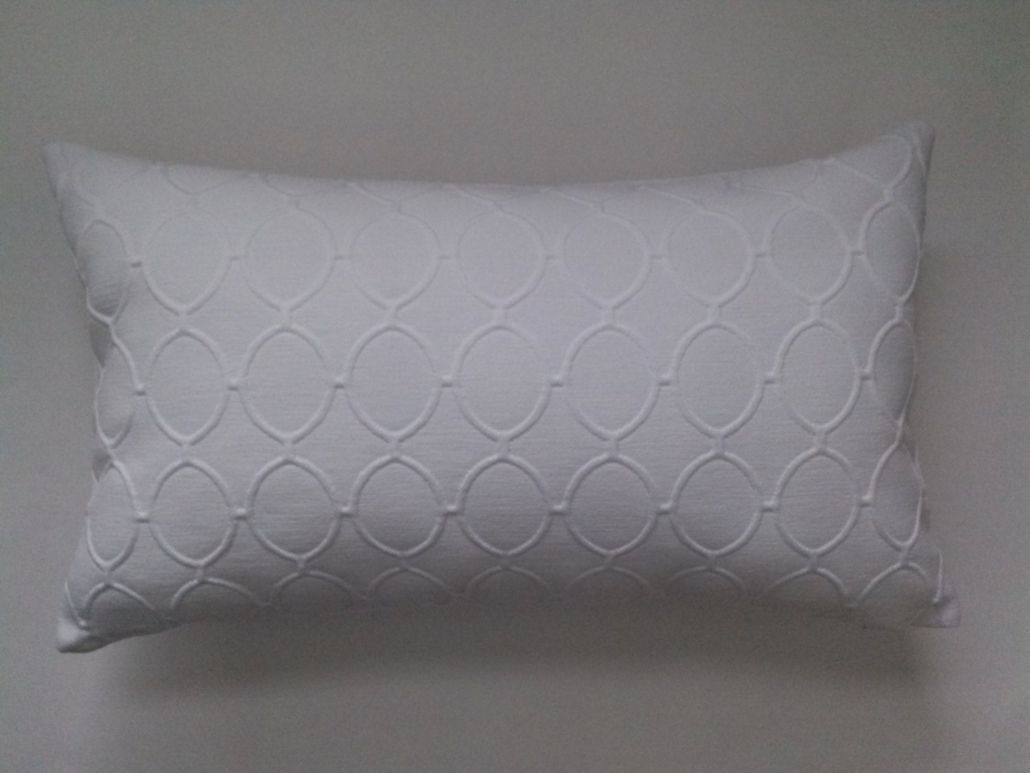 White Lumbar Pillow Cover Upholstery White Decorative Pillow