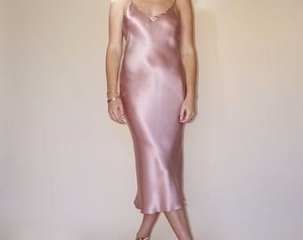 BRIDESMAID SILK DRESS | Luxurious Pure Silk Slip Dress | Versatile and Pretty | Pair with Boots Heels Sneakers or Flats |