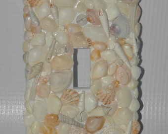 Sea Shell Light Switch Cover - Beach and Ocean Decor - Nautical Decor Light Switchplate