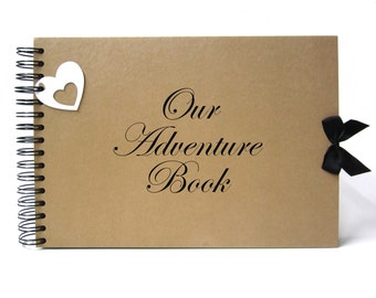 Scrapbook, A5 A4 Our Adventure Book, Card Pages, Photo Album, Keepsake, Guestbook