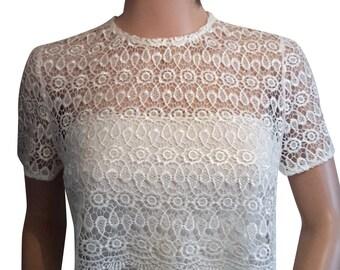 Cream Guipure lace Jacket/ Bolero/ shrug sizes UK 8 to 18