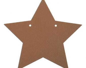 """Tin Metal Star Rusted Look 5"""""""