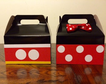 Mickey and Minnie Mouse favor boxes