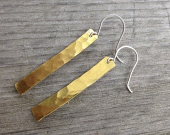 Polished Brass Dangle Earrings