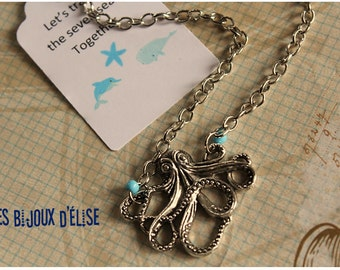 Sale - Octopus Necklace Sea Animal