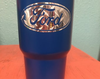 Ford Diamond Plate Decal with or Without Personalization