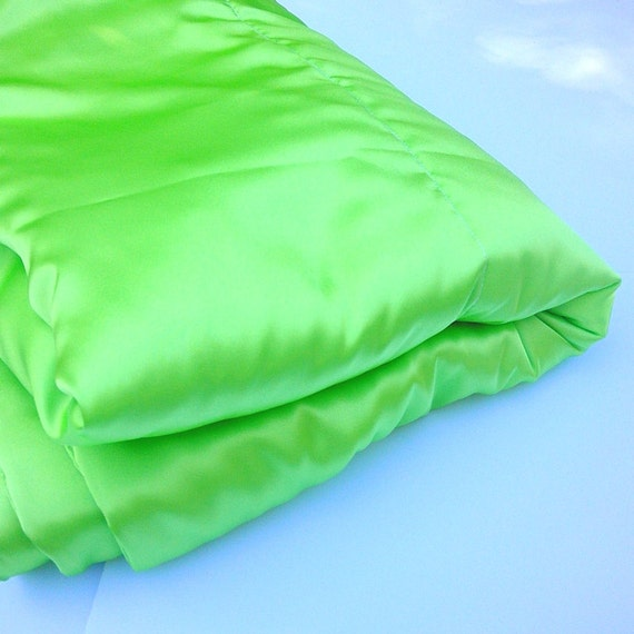 lime green satin blanket throw large luxurious accent. Black Bedroom Furniture Sets. Home Design Ideas