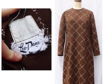 1970s Leo Dana Brownie Dress