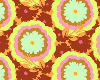 CLEARANCE Buttercups Honeydew Fabric Amy Butler Soul Blossoms Quilters Cotton Rust Fat Quarter