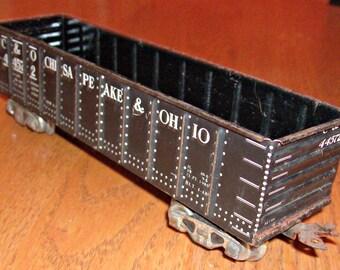 Vintage C & O Gondola Railroad Car