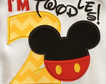I'm Twodles!  Mickey Mouse Birthday shirt