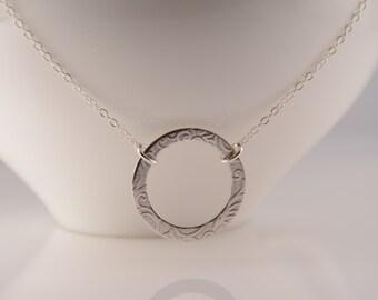 Karma necklace. Eternity necklace. 14K Gold filled Karma necklace. Rose gold filled Karma necklace