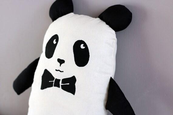 chic panda plush with bow tie by englishgirlathome