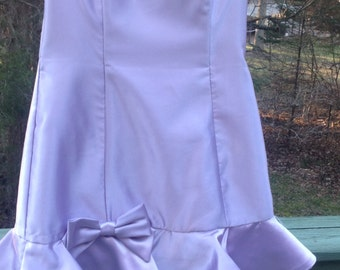 Jessica McClintock Girls Lavender Dress Strapless Size 1 ~ Gunne Sax, Prom Dress, Wedding, Easter, Special Occasion Dress