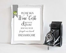 Please Sign a Wine cork, Cork signage, wine Guestbook, alternative Guest Book, wedding Table Sign, Instant Download, digital file,