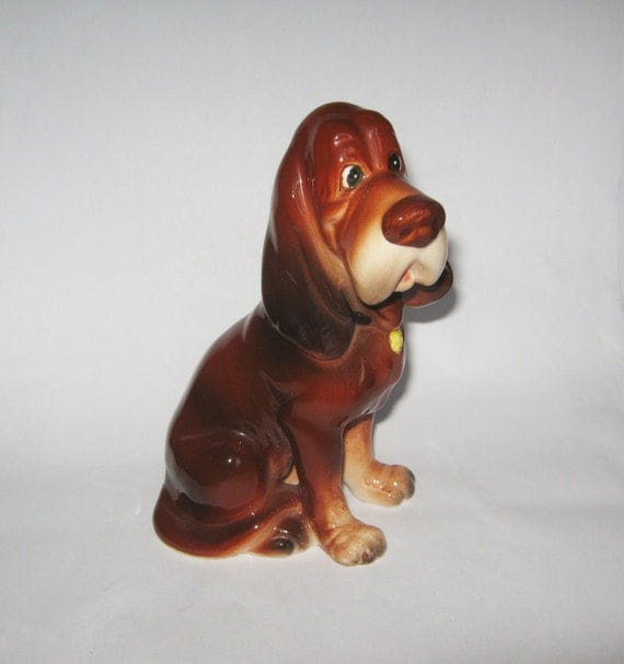 Walt Disney Productions Porcelain Trusty Bloodhound Dog
