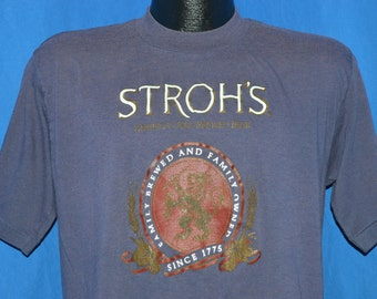 80s Stroh's Beer Purple Vintage t-shirt Medium