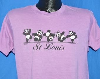 80s St Louis Panda Dancing Zoo Purple  t-shirt Medium