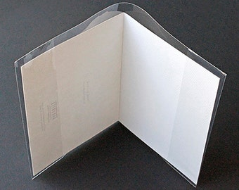 Clear Greeting Card Jackets, Packs of 100 Pieces, Choice of 3 Different Sizes