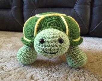 Crocheted Turtle Stuffed Animal