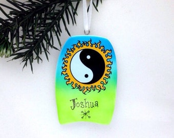 FREE SHIPPING Boogie Board Personalized Christmas Ornament / Beach Ornament / Vacation Ornament / Seashore Ornament / Summer Vacation