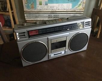 Vintage Panasonic RX-4290 Boom Box AM-FM Cassette Tape Player - Radio Works Cassette Player Needs Repair