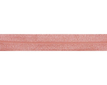 "Coral Peach - 5 Yards Solid FOE - 5/8"" Fold Over Elastic - 5/8-S-084"