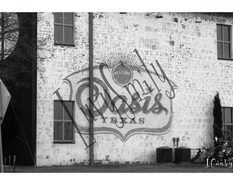 Oasis, Texas Black & White Photograph