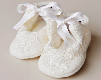 Memory Ivory Christening Shoes, Ivory Baptism Shoes, Special Event shoes for Baby Girl's