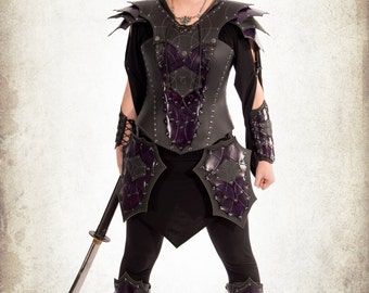 Complete battlemage woman armor for LARP, action roleplaying and cosplay