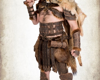 Complete barbarian warrior armor for LARP, action roleplaying and cosplay