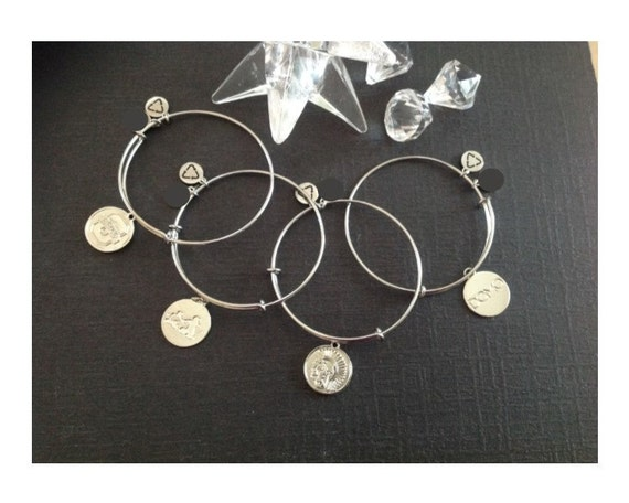 custom logo charm bracelets alex and ani style by luluwilliams