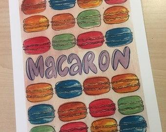 Macaron not Macaroon large digital print