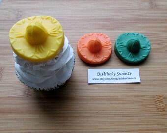 SOMBRERO Chocolate Cupcake TOPPERS - (24) FIESTA Favors/Sombrero Favors/Fiesta Birthday/Cinco De Mayo