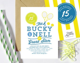Tennis Invitations (Personalised Printables)