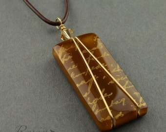 Love Letter Fused Glass Necklace