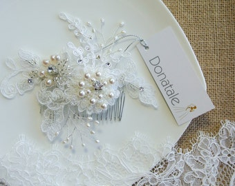 Bridal Headpiece Bridal Hair Comb Wedding Hair Comb Decorative Comb Bridal Hair Accessory - EMILIA