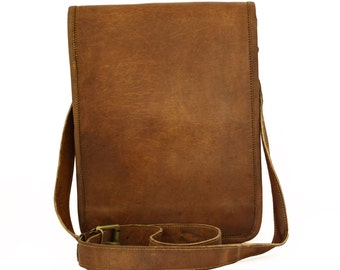Plain Vintage Handmade Genuine Brown Leather Handbag