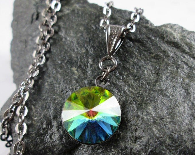 Swarovski Crystal Necklace - Vitrail Rivoli - Rainbow