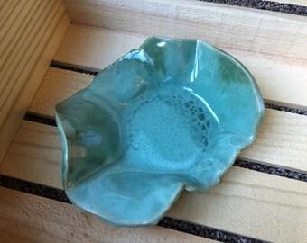 Serving bowl rustic freeform