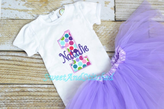 Polka Dot First (1st) Birthday Outfit with ruffle bloomers, tutu or pettiskirt - polka dot First birthday outfit!  cake smash outfit girls