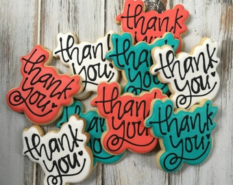 1 dozen Thank You cookies