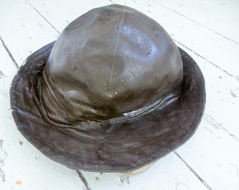 Vintage, Waxed, Rain Hat, Small, FREE SHIPPING