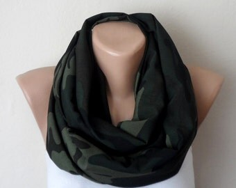 green infinity scarf green viscose loop scarf womens scarf circle scarf fashion accessories gift for her