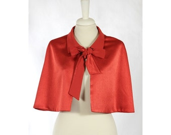 Red vintage cape '50s style