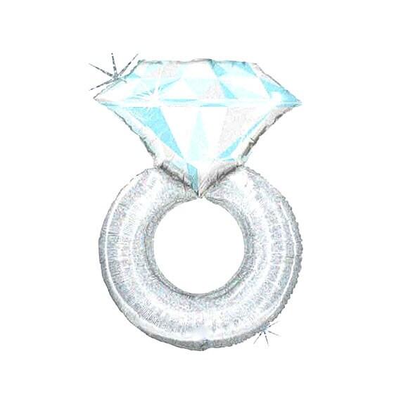Engagement Ring Balloon Bridal Shower Diamond Ring Balloon
