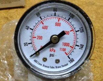 Vintage Pressure Gauge 160 Psi Rear Connection Steampunk