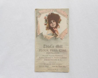 """Vintage Advertising Ink Blotter for """" Thiel's Mill"""" North Collins NY"""